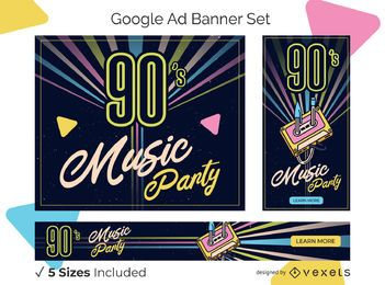 Retro ad banner set