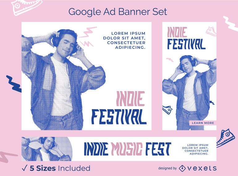 Indie Festival Google Ads Banner Pack