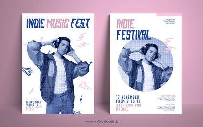 Paquete de póster de Indie Music Fest
