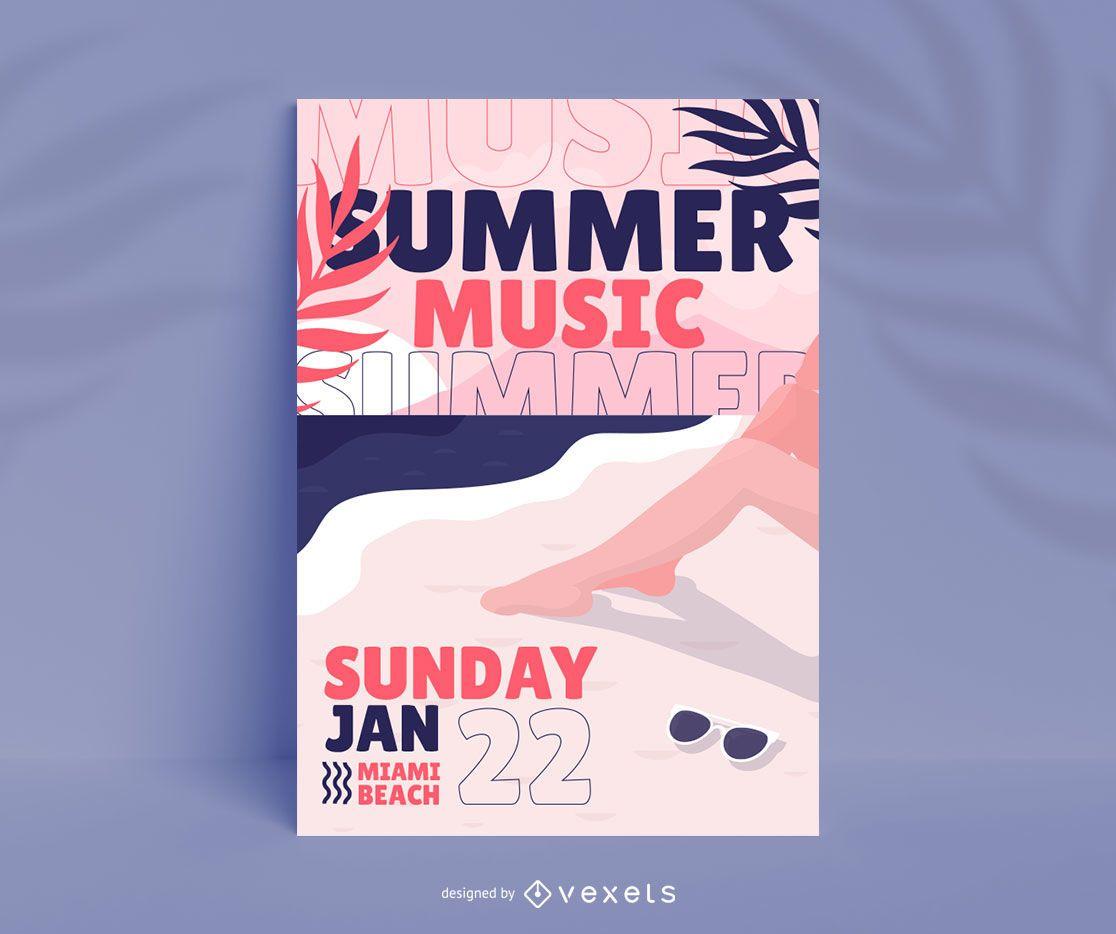 Summer Music Festival Poster Design