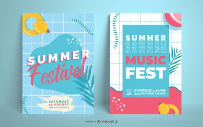Sommerfest Party Party Poster Design