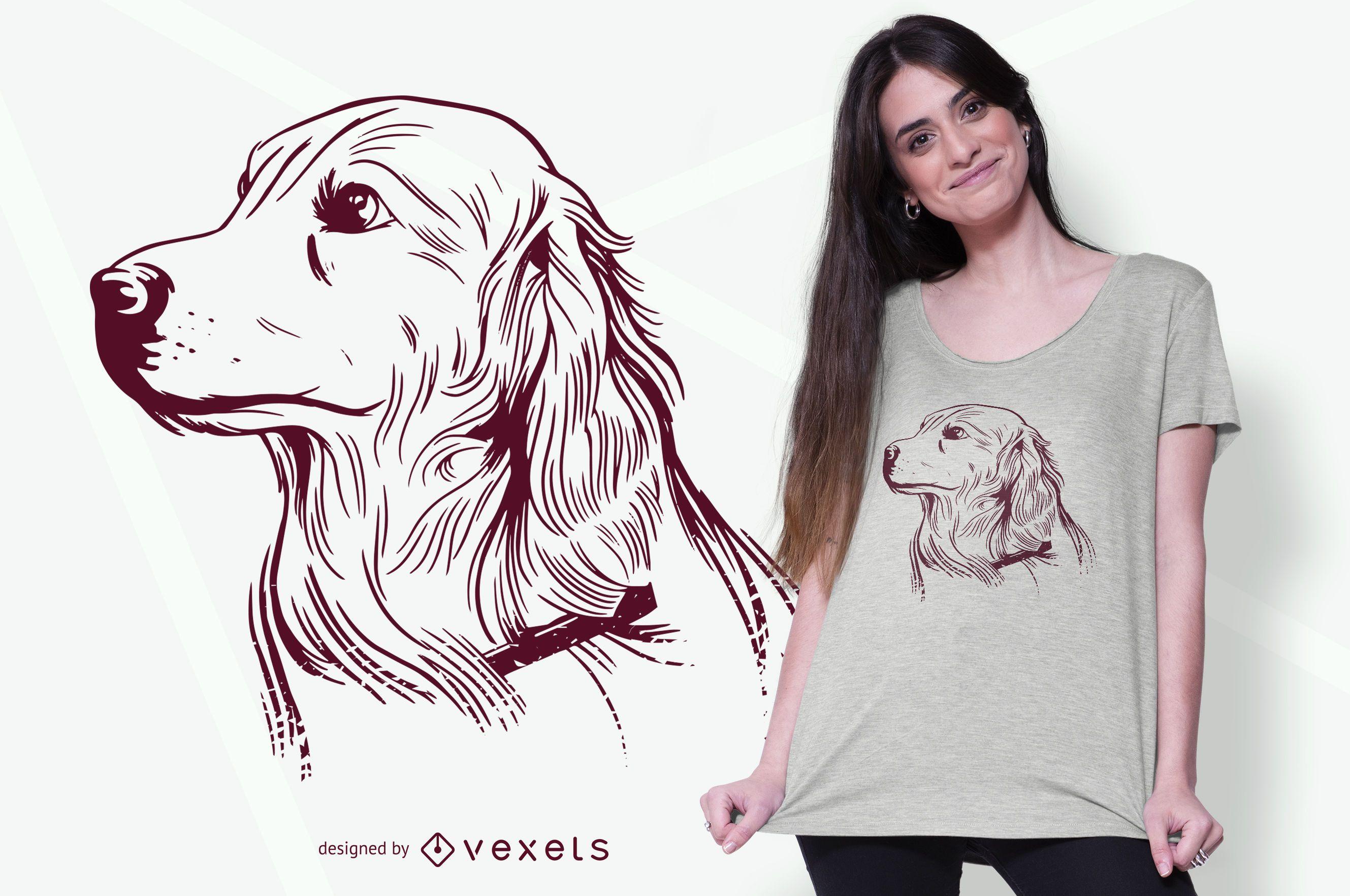 Golden Retriever Hund T-Shirt Design