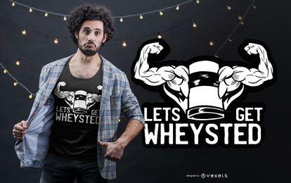 Diseño divertido de la camiseta de la proteína del suero