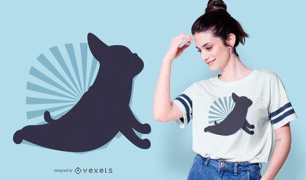 Diseño de camiseta de perro de yoga