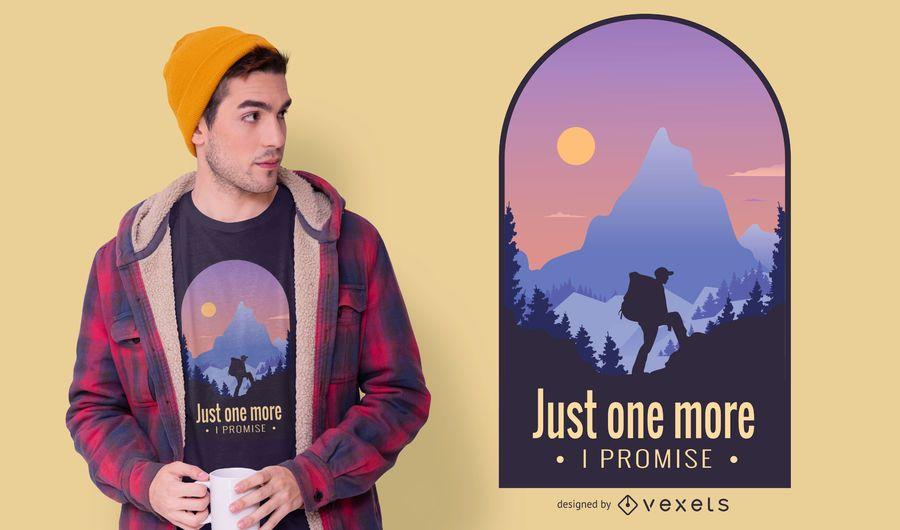 Design de t-shirt de citação de caminhadas