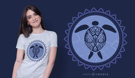 Tribal turtle t-shirt design