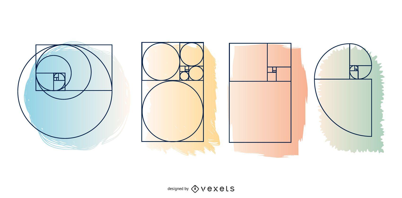 Conjunto de diseño de secuencia de Fibonacci