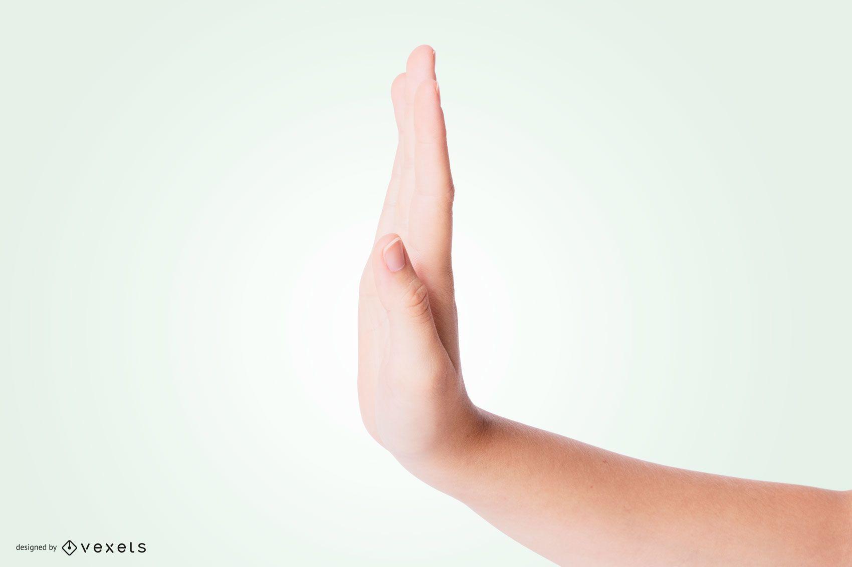 Stop Palm Hand Mockup