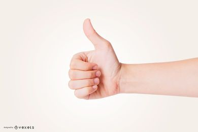 Thumbs Up Hand Mockup