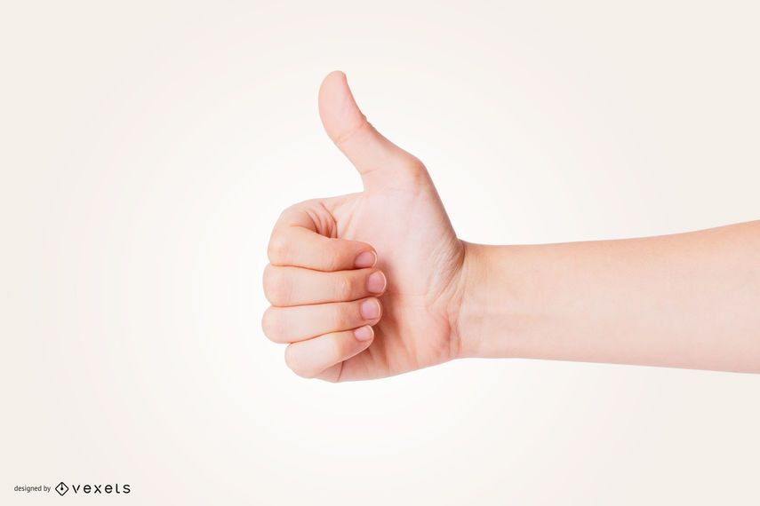 Thumbs Up Hand Mockup