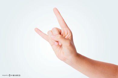 Rock Horns Hand Mockup