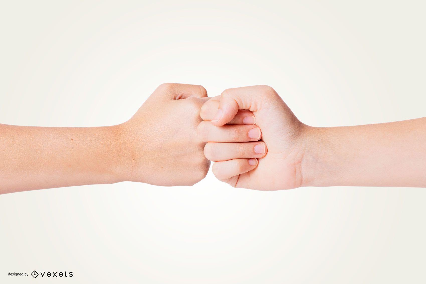 Maquete de mão de punho