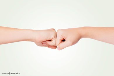 Hand Fist Bump Mockup