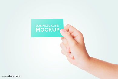 Maqueta de mano de tarjeta de visita