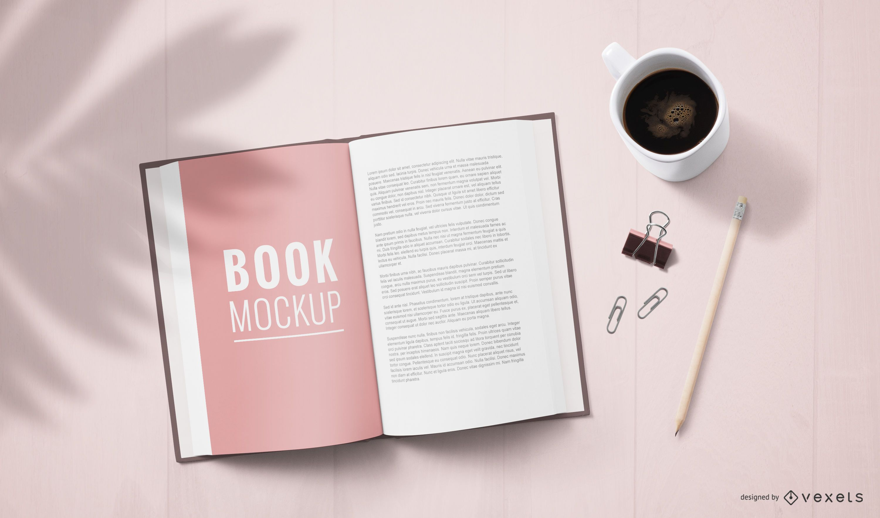 Open Book Page Mockup