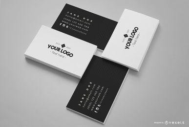 Maquete de composição de cartão de visita