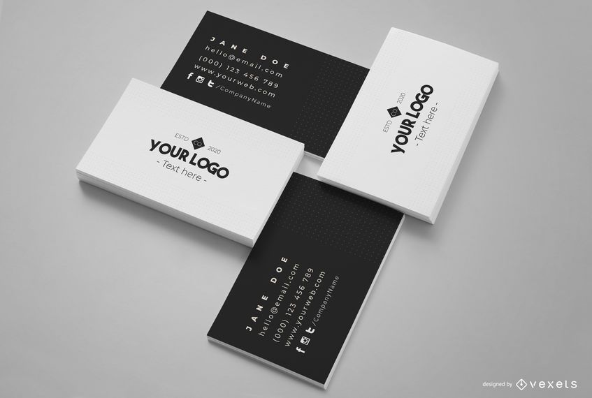 Business Card Composition Mockup