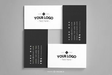 Business Cards Composition Mockup