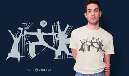 Diseño de camiseta de monumento abstracto