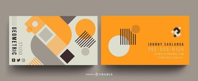 Geometrische abstrakte Visitenkartenvorlage