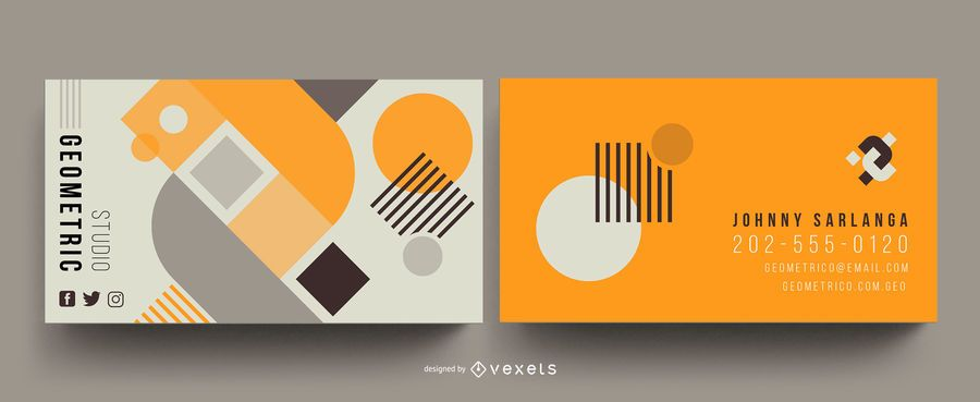 Geometric abstract business card template