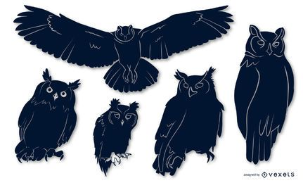 Owl Bird Silhouette Pack