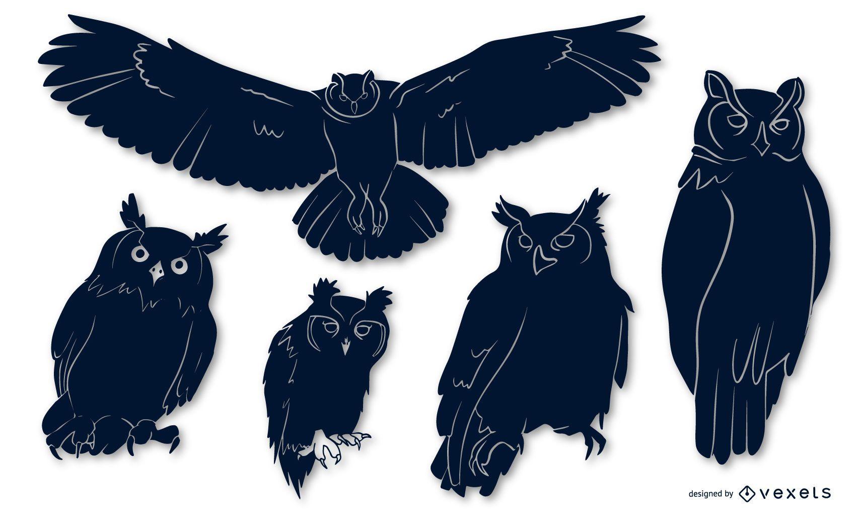 Owl Bird Silhouette Pack