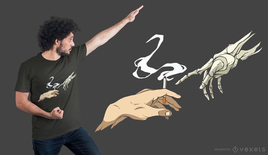 Smoking Hands T-shirt Design