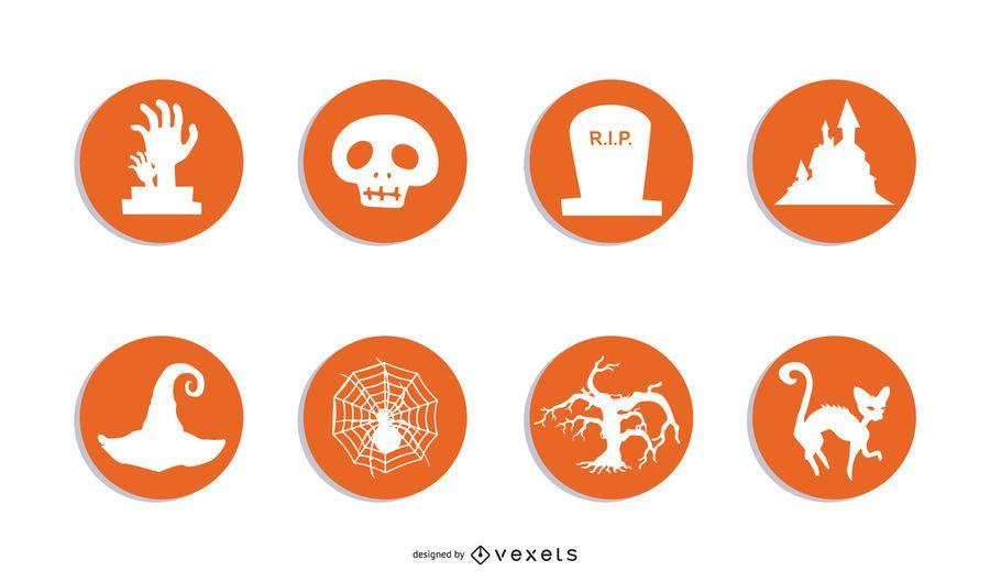 3 iconos RSS de Halloween