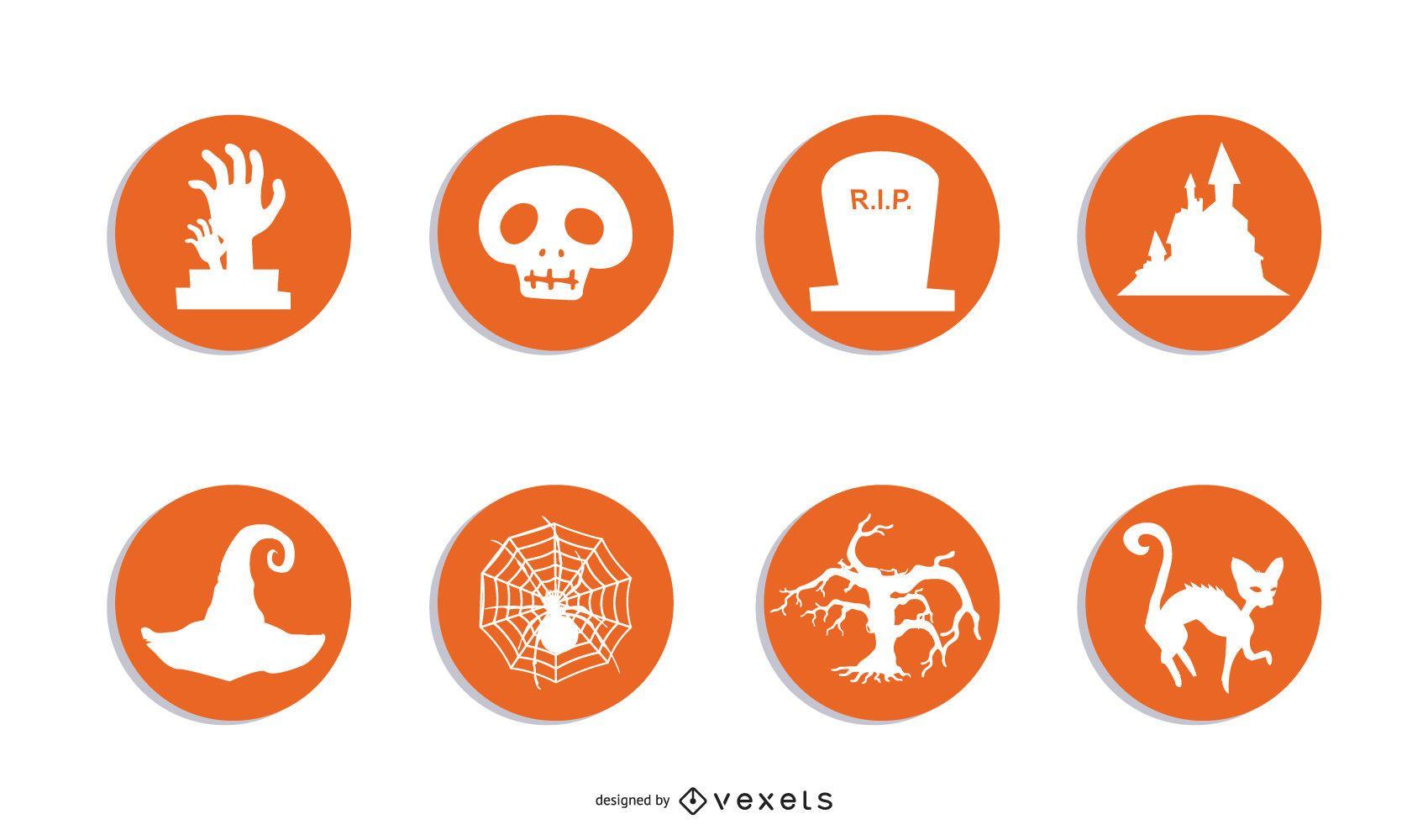 Conjunto de ícones RSS de Halloween