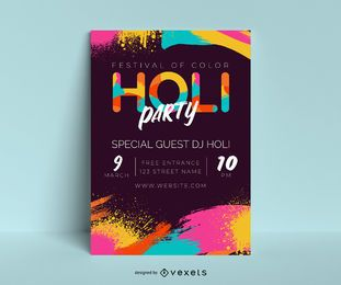 Holi Party Poster Design