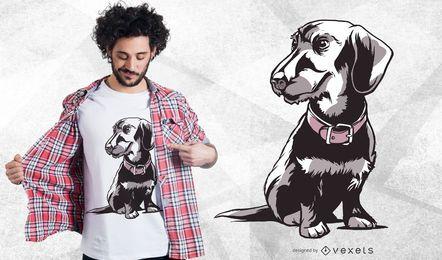 Diseño de camiseta Dachshund enano