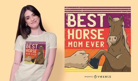 Diseño de camiseta Best Horse Mom Ever
