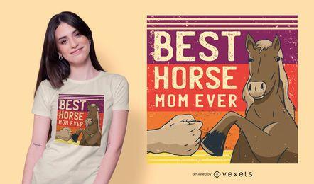 Mejor diseño de camiseta de Horse Mom Ever