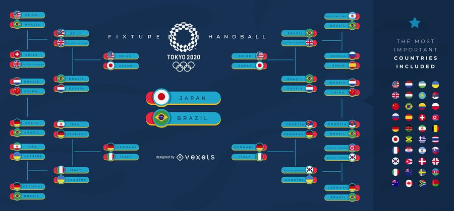 Olympic Sports Tournament Fixture Template Design