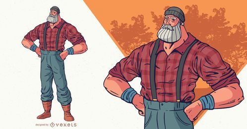 Lumberjack character illustration