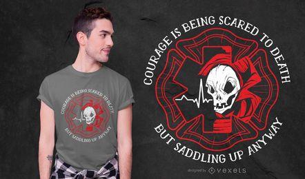 Design de t-shirt de citação de bombeiro