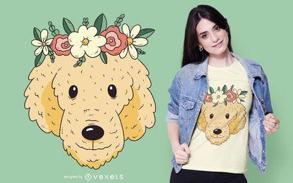 Diseño de camiseta de perro dorado