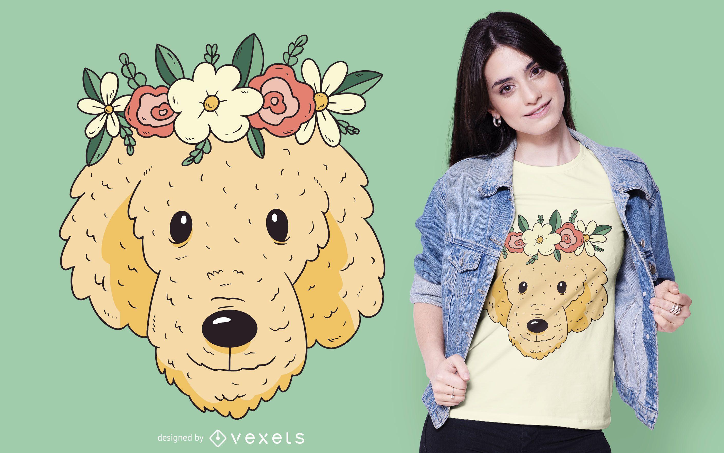 Golden dog t-shirt design