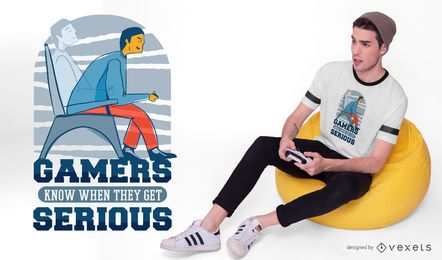 Serious gamers t-shirt design