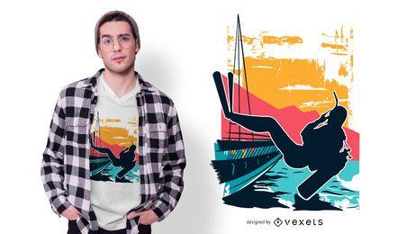 Design de camiseta de mergulho