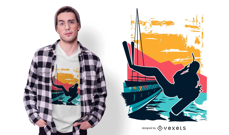Diseño de camiseta de buceo.