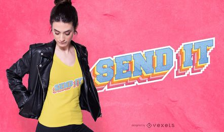 Envie o design da camiseta
