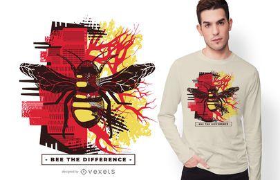 Diseño de camiseta de abeja la diferencia.