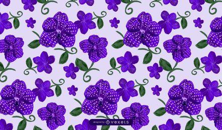 Diseño del patrón de flores Vanda