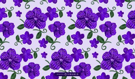 Vanda flowers pattern design