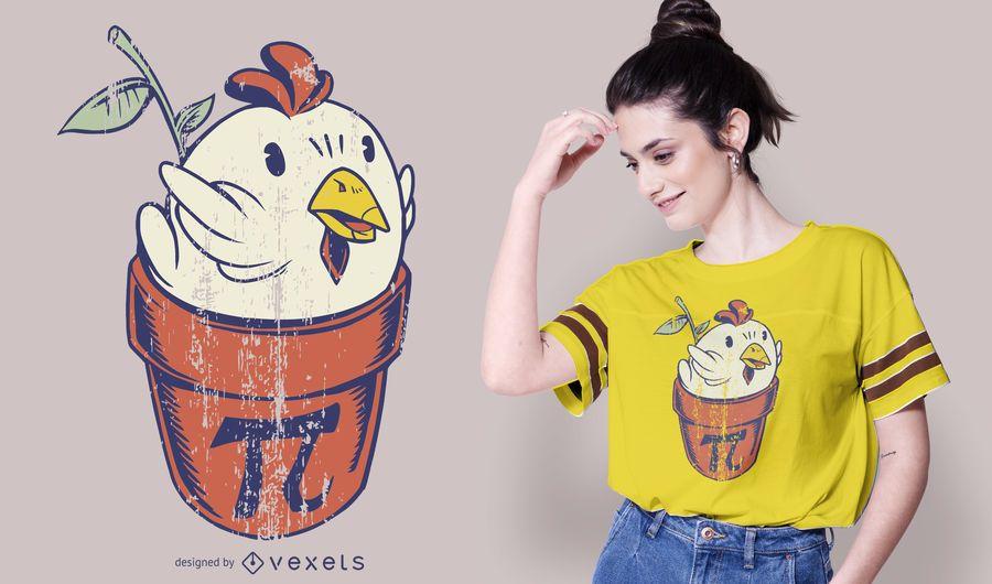 Diseño de camiseta de pastel de pollo