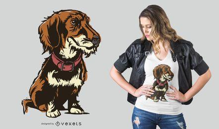 Design de t-shirt com dachshund wirehaired