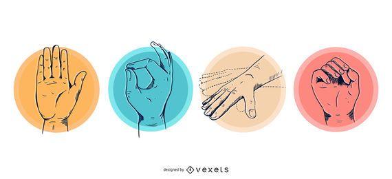 Set de manos de buceo