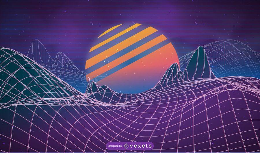 Design de fundo Vaporwave